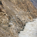 A narrow road from Gilgit to Skardu along Indus, Gilgit-Baltistan, July 17, 2014