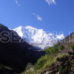 A rare view of Rakaposhi, Nagar, Gilgit-Baltistan, September 7, 2006