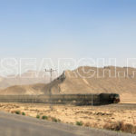 A train steaming to Quetta, Balochistan, March 29, 2015
