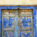Blue door, Attock, Punjab, August 10, 2014