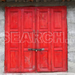 Red door, Astore, Gilgit-Baltistan, August 5, 2017
